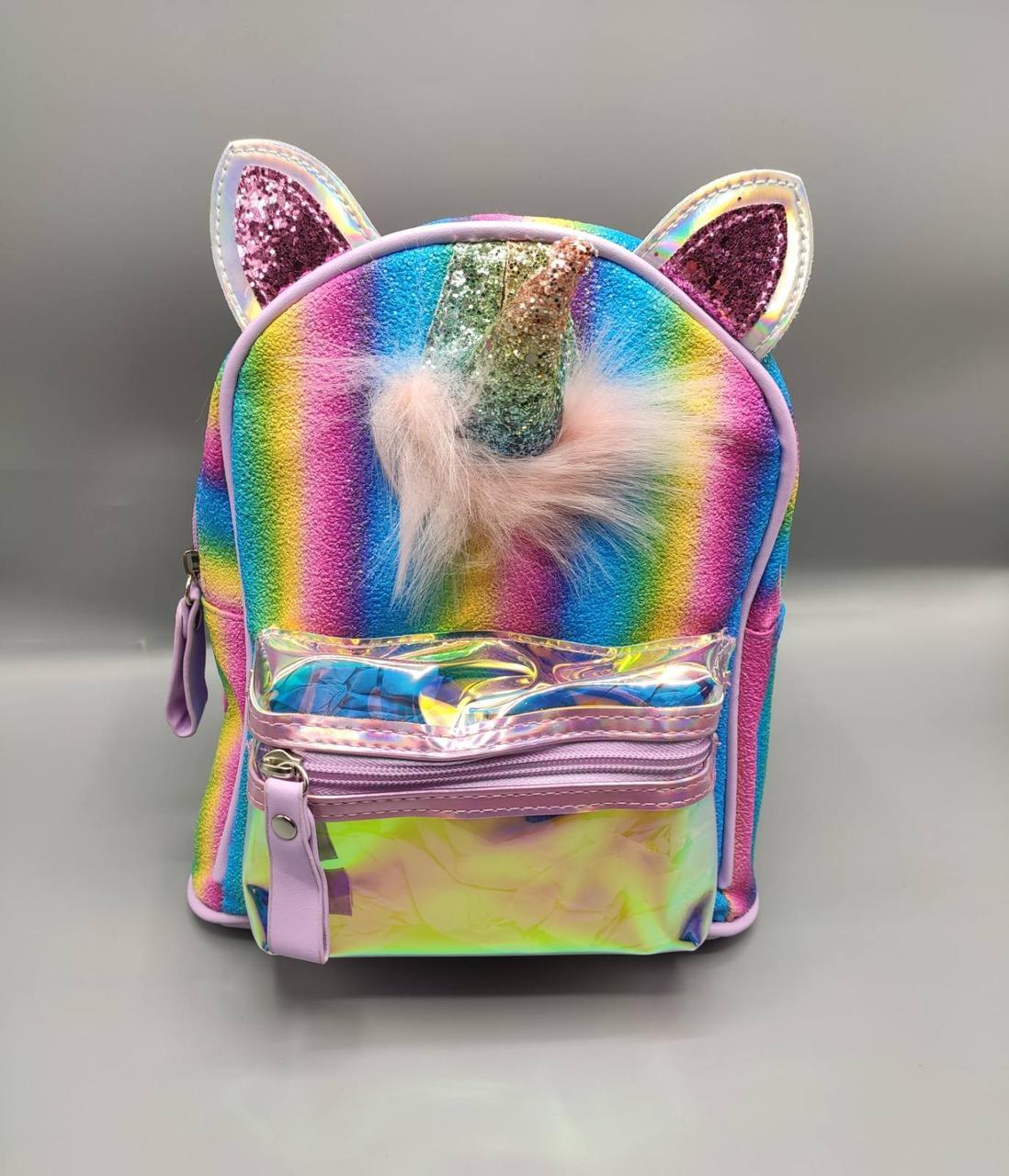 Дитячий рюкзак єдиноріг 4 кольори - бузковий
