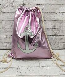 """Пляжный рюкзак """"Pink Anchor"""" 3 Цвета Розовый"""