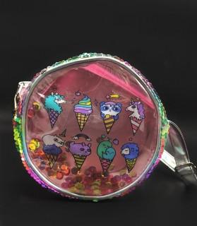 Прозрачная детская сумка -  мороженое
