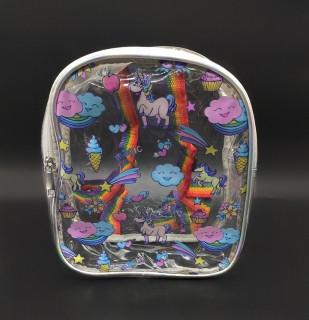 Дитячий прозорий рюкзак - єдиноріг