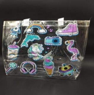 Прозрачная стильная сумка - good vibes