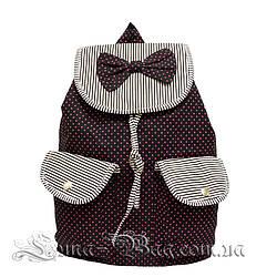 Детский пляжный рюкзак с (Бабочкой) 2 Цвета Черный (39x38x13 cm.)