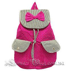 Детский пляжный рюкзак с (Бабочкой) 2 Цвета Розовый (39x38x13 cm.)