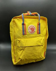 """Рюкзак """"KÅNKEN"""" з райдужними ручками. Жовтий"""