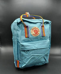 """Рюкзак """"KÅNKEN"""" з райдужними ручками. Блакитна"""