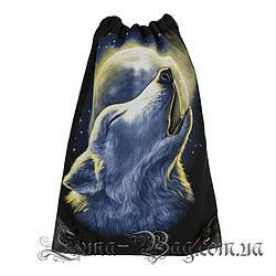 Сумка для взуття вовк (Розмір 50*32)(В упаковці 6 шт)