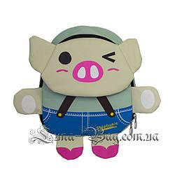 "Детский рюкзак ""Pig Stephanie"" 3 Рисунка (Размер 26*23*12)"