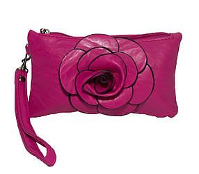 """Клатч-Кошелек """"Rose""""  6 Цветов Малиновый (Размер 19*11)"""