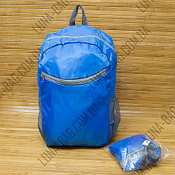 Рюкзак складной для покупок 3 Цвета Синий. (48х28х15 см)
