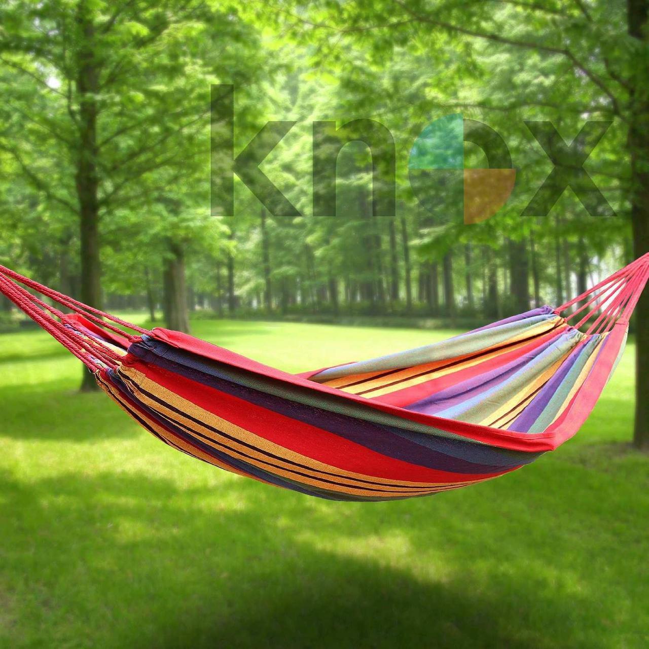 Гамак подвесной для отдыха тканевый Mexikan Hammock (Разноцветный)