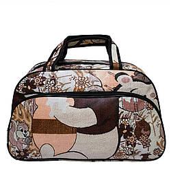 """Жіноча дорожня сумка """"Bear"""" 3 Кольори Бежевий,( Розмір S 43х26х14 см)"""