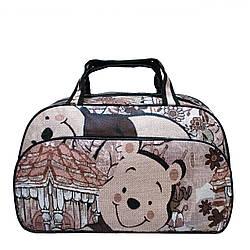 """Жіноча дорожня сумка """"Bear"""" 3 Кольори Коричневий,( Розмір S 43х26х14 см)"""