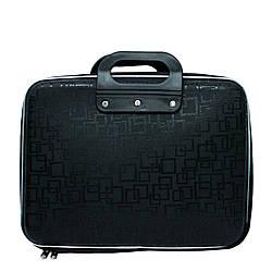 Сумка для ноутбука 3 Цвета Черный (Рисунок Квадрат) Размер 37*28*6
