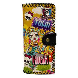 Кошелек Monster High 4 Цвета Жёлтый (Размер 18x8x1 см.)