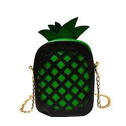"""Сумочка """"Pineapple"""" 3 Цвета Зеленый (Размер 19*14*6)"""