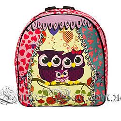 Яркий летний рюкзак Bright owls 4 Цвета . Малиновый (29x27x11 см.)
