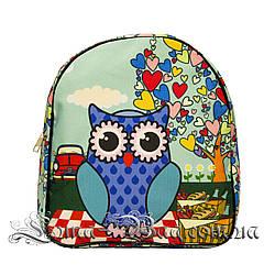Яркий летний рюкзак Bright owls 4 Цвета . Синий (29x27x11 см.)