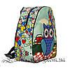 Яркий летний рюкзак Bright owls 4 Цвета . Синий (29x27x11 см.), фото 2