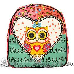 Яркий летний рюкзак Bright owls 4 Цвета . Розовый (29x27x11 см.)