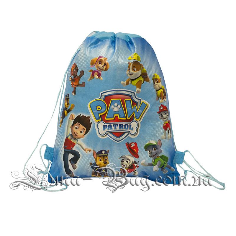Детский рюкзак с рисунком (PAW Patrol) 3 Цвета Светло Синий.В упаковке 12 шт