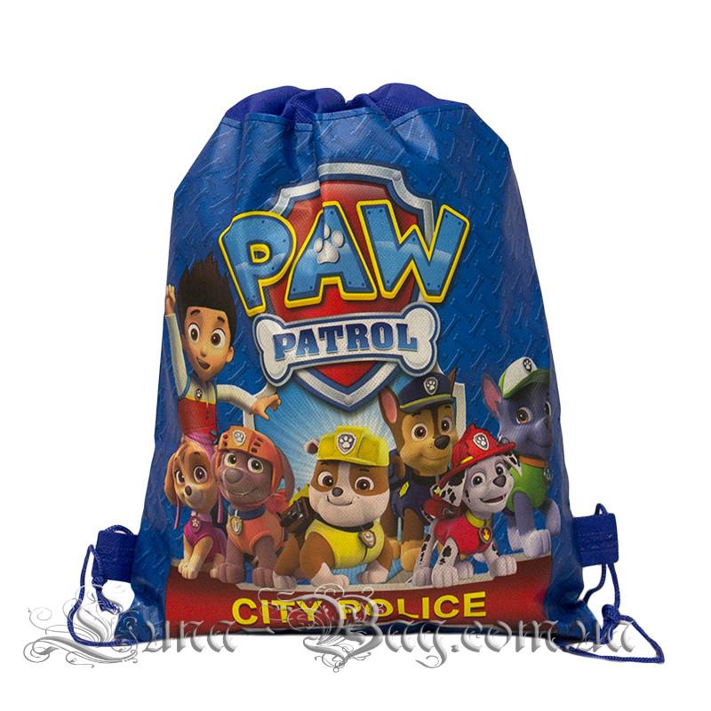 Дитячий рюкзак з малюнком (PAW Patrol) 3 Кольори Синій.В упаковці 12 шт