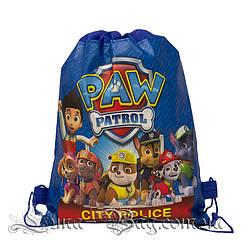 Детский рюкзак с рисунком (PAW Patrol) 3 Цвета Синий.В упаковке 12 шт