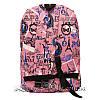 Спортивний рюкзак (Sport) з принтом (PARIS) 7 Кольорів Рожевий (41x27x11 cm.), фото 3