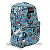 Спортивний рюкзак (Sport) з принтом (PARIS) 7 Кольорів Синій (41x27x11 cm.), фото 3