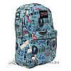 Спортивный рюкзак (Sport) с принтом (PARIS) 7 Цветов Синий (41x27x11 cm.), фото 3