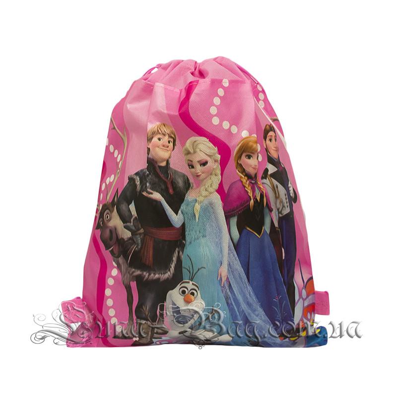 Детский рюкзак с рисунком (FROZEN) Цвет Розовый. В упаковке 12 шт