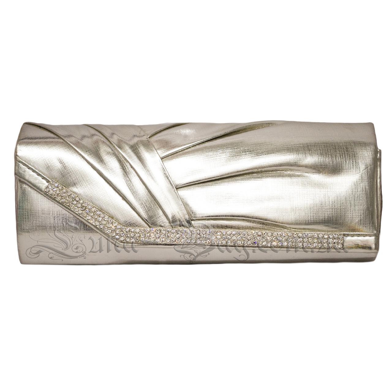 Стильний Жіночий Клатч 3 Кольору Сріблястий (27х13х7 cm.)