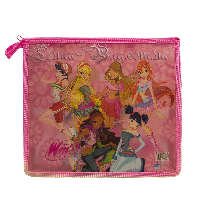Шкільна папка для дівчаток (Winx) Колір Рожевий (20х23х5 cm.)