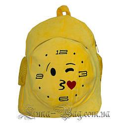 """Рюкзак Emoji Clock """"Kiss"""" 5 Малюнків (Розмір 40*31*10)"""