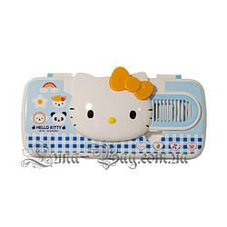 "Детский Пенал ""Hello Kitty"" 3 Цвета Голубой (Размер 22*8,5*3)"