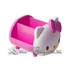 """Органайзер для ручок """"Hello Kitty"""" 2 Кольори Рожевий (Розмір 11*12.5*14)"""