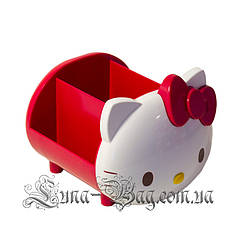 """Органайзер для ручок """"Hello Kitty"""" 2 Кольори Червоний (Розмір 11*12.5*14)"""