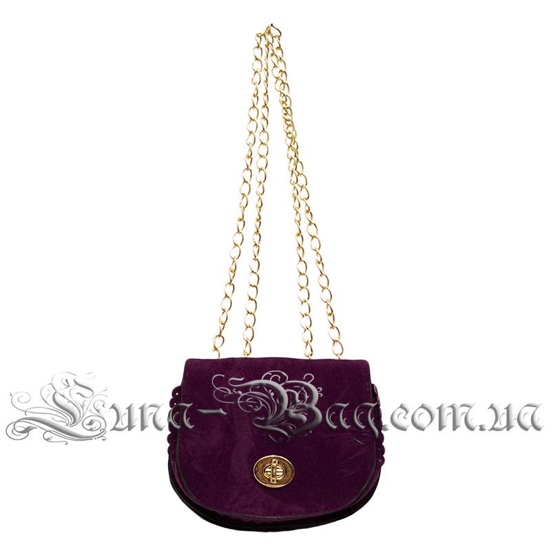 Жіноча сумочка-клатч 5 Кольорів Фіолетовий (14x16x6 cm. довжина плечового ременя 120 см.)