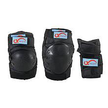 Комплект защитный подростковый Adenki Черный 77-01377, КОД: 1868289