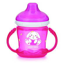 Кружка непроливайка Canpol Babies Sweet fun 180 мл розовая 57 300pin, КОД: 2425772