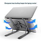 ОПТ Регульована складна підставка для ноутбука Laptop Stand, підставка-тримач для планшета, фото 4