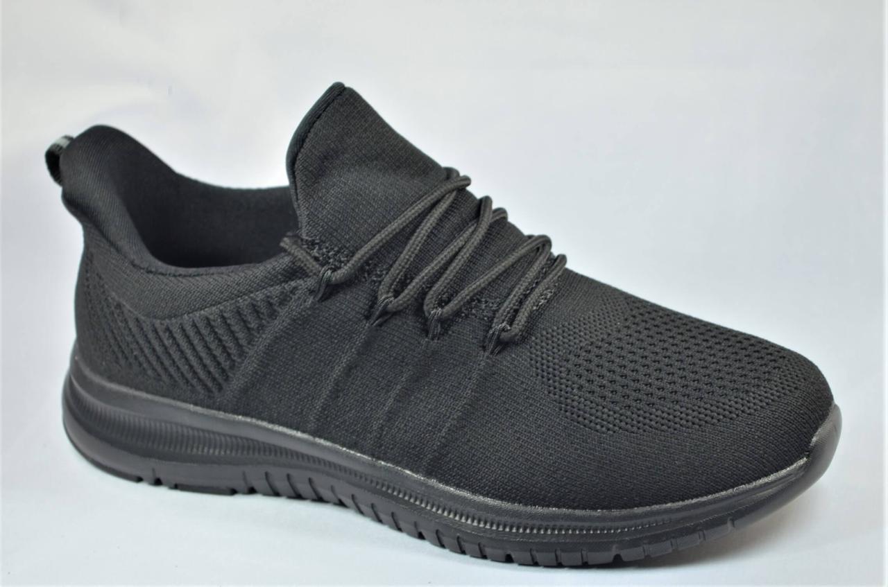 Підліткові та жіночі кросівки сітка чорні 190022