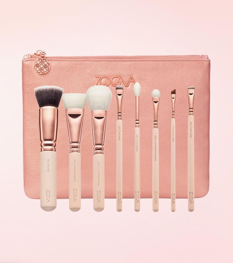 Набір кистей для макіяжу Zoeva Golden Rose Luxury Brush Set Vol. 2