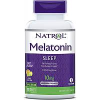 Відновник Natrol Melatonin 10 mg Fast Dissolve, 100 таблеток Полуниця