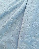 Плед мікрофібра 100*120 BEBEK блакитний
