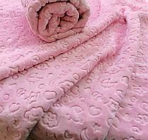 Плед мікрофібра 100*120 BEBEK рожевий
