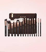 Набір кистей для макіяжу Zoeva Golden Rose Complete Brush Set Vol. 1
