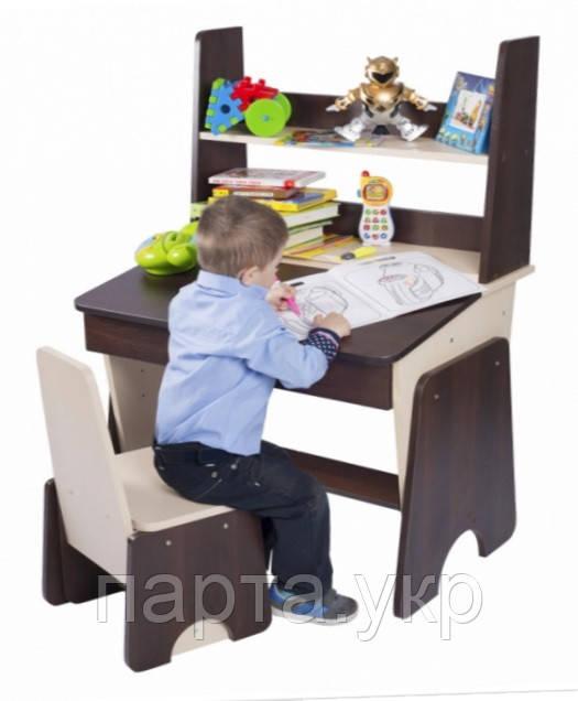"""Детская Парта растущая, стул и надстройка """"с 3 до 15"""" 90см"""