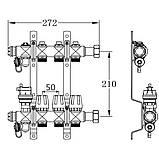 """Колектор терморегулюючий SD Forte 1"""" на 5 виходу, фото 2"""