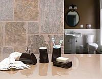 Набор аксессуаров для ванной комнаты из 4 предметов Акик кофейного цвета