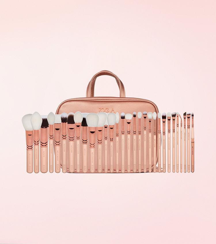Набор кистей для макияжа  Zoeva Makeup Artist Zoe Bag Rose Golden Vol. 2 -30 шт